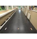 Route vloer stickers binnen school / kinderen set