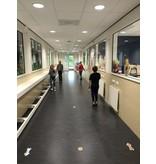 Route floor stickers within school / children set