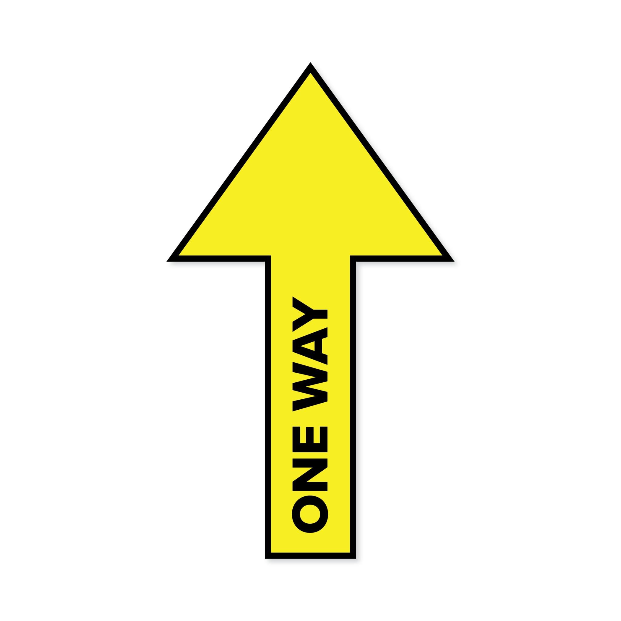 Vloersticker pijl One Way