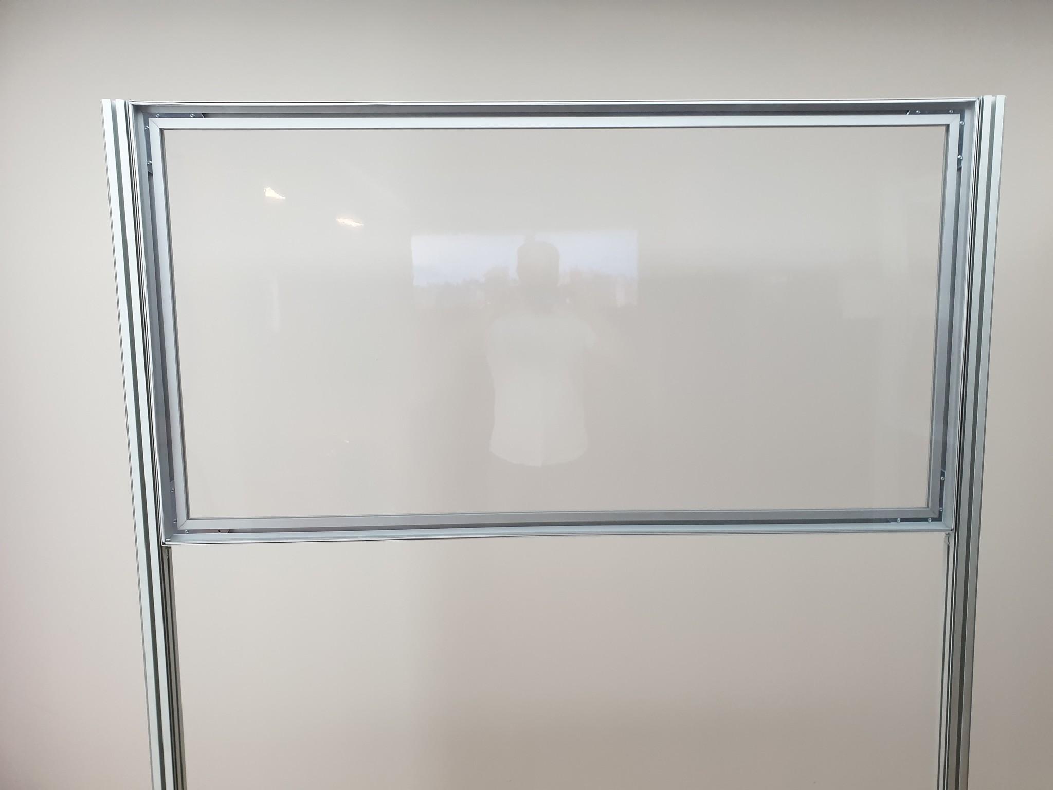 2d Balie model transparant doek
