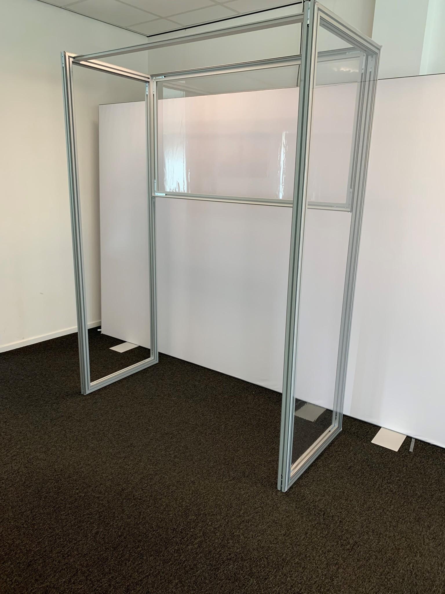 3d Counter model transparent cloth