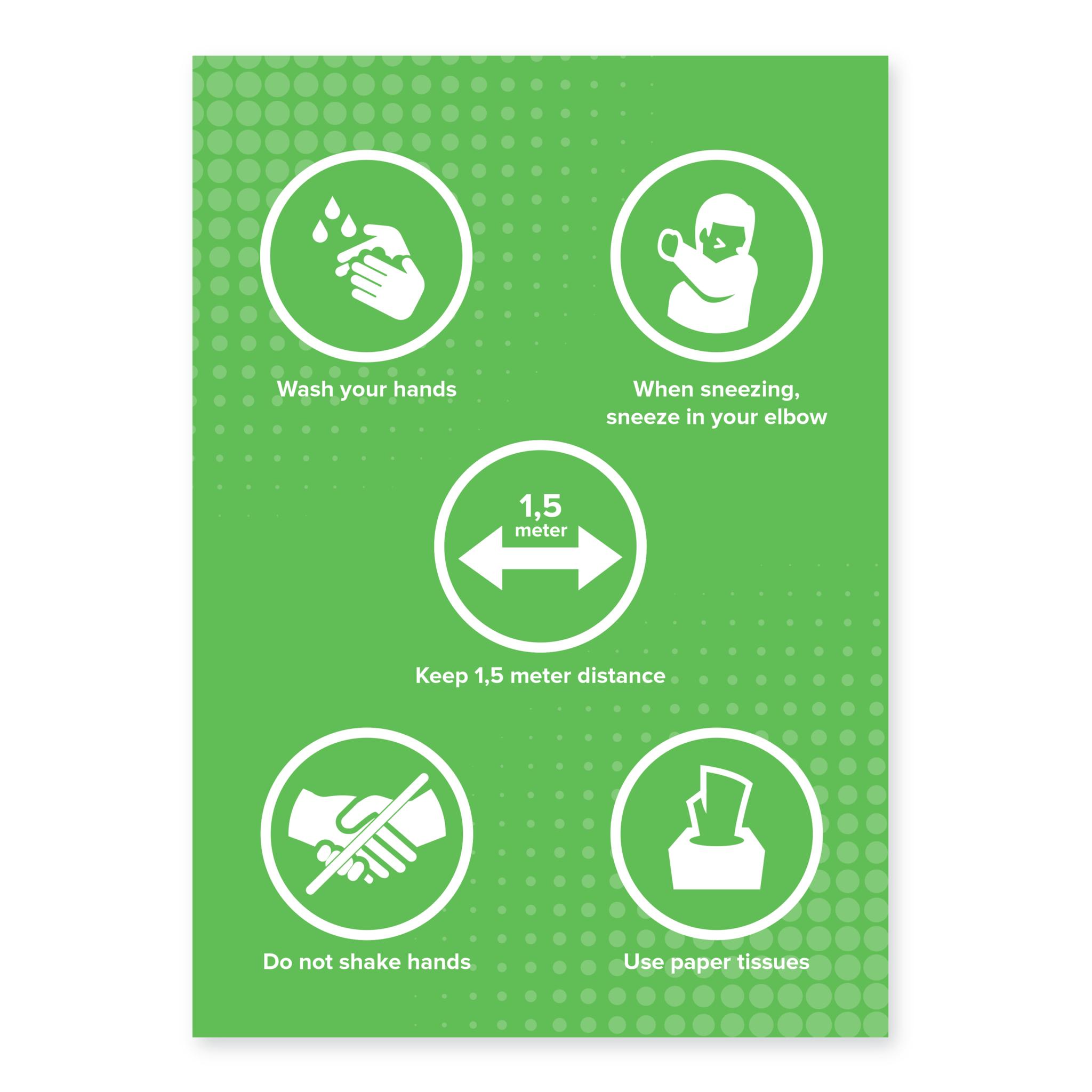 Easydot Wit Sticker 60 x 85 cm RIVM regels Engels
