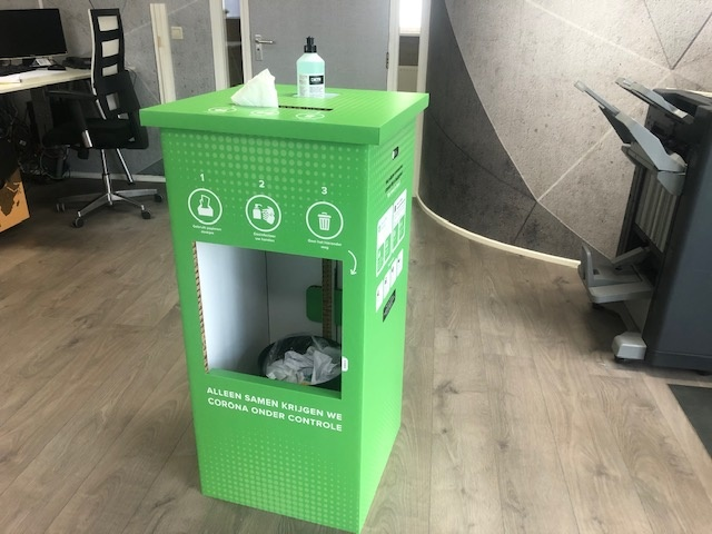 Hand-disinfection furniture