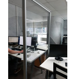 Prevention freestanding partition wall transparent cloth