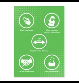 Easydot Wit Autocollants A4: RIVM règles anglais
