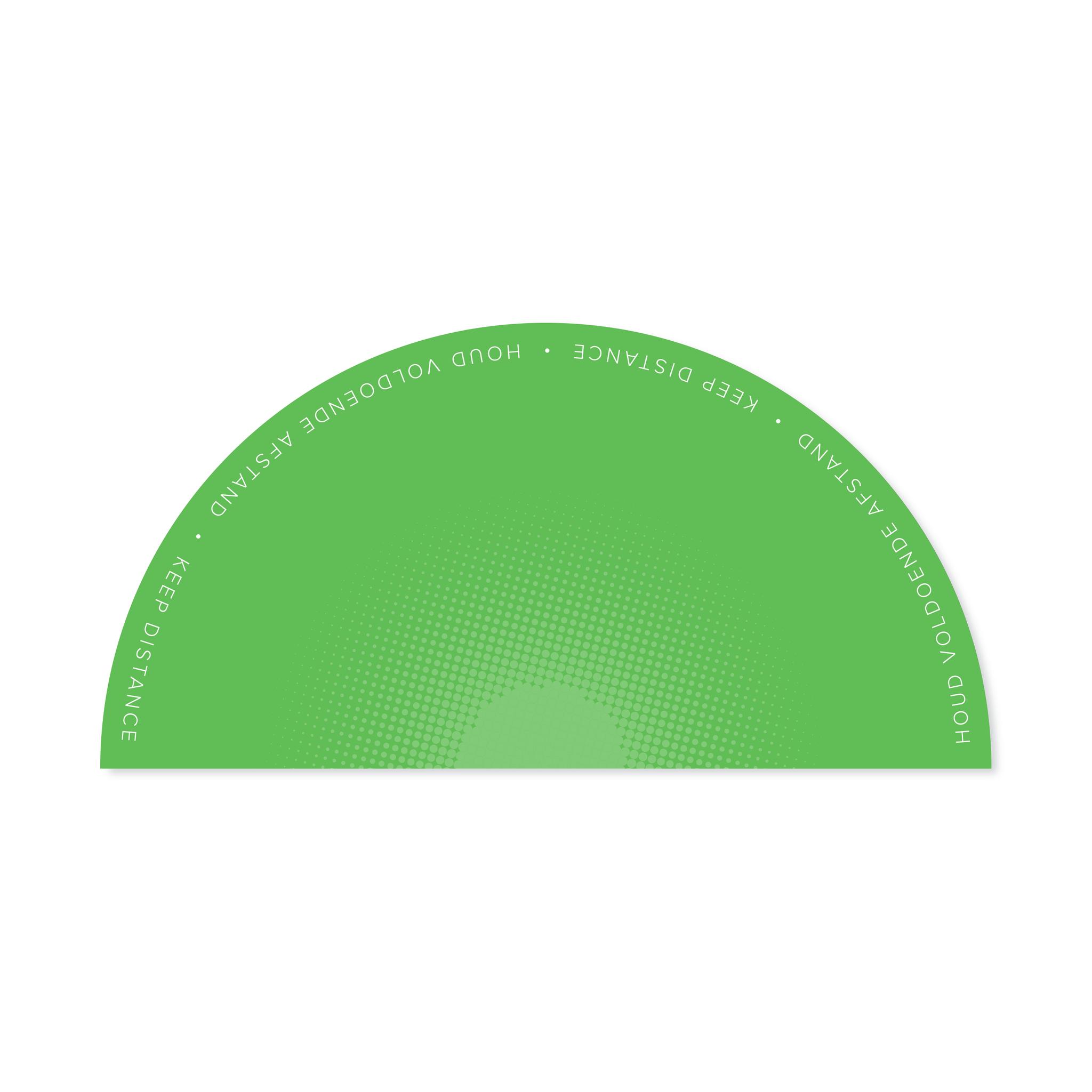 Piso de trabajo de tela, medio círculo de 1,5 metros