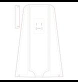 Columna de desinfección desplegable 40 x 150 cm, incluido Disifectante