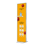 Disinfection column Luxe 40 x 145 cm, including disinfectant