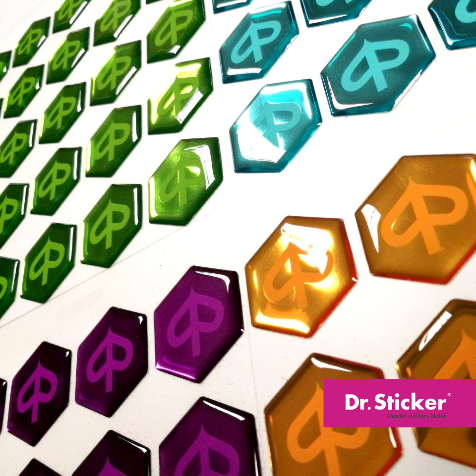 Doming stickers / 3d stickers bestellen