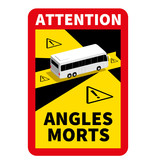 Dode hoek - Attention Angles Morts Bus Sticker (17 x 25 cm) (Prijs = incl. BTW)