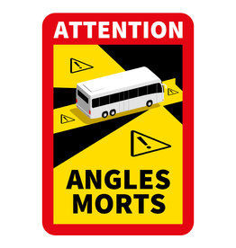 Blind spot - Autocollant Attention Angles Morts Bus (17 x 25 cm) (Prix = TVA incl.)