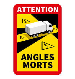 Blind spot - Autocollant Attention Angles Morts Truck (17 x 25 cm) (Prix = TVA incl.)