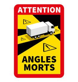 Dode hoek - Achtung Winkel Morts Vrachtwagen Aufkleber (17 x 25 cm) (Prijs = inkl. Übrigens)