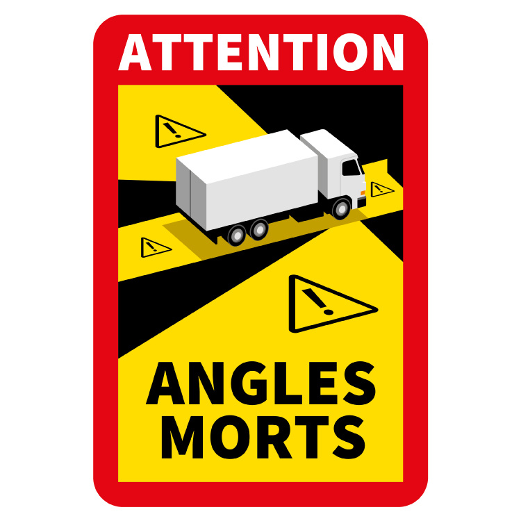 Blind spot - Attention Angles Morts Truck Sticker (17 x 25 cm) (Price = incl. VAT)