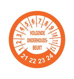 Adhesivos de inspección Naranja / Blanco