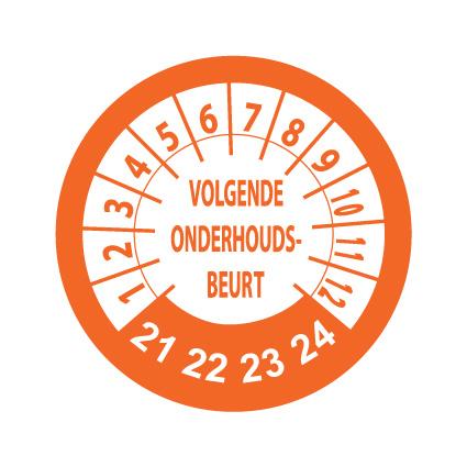 Inspection Stickers Orange / White