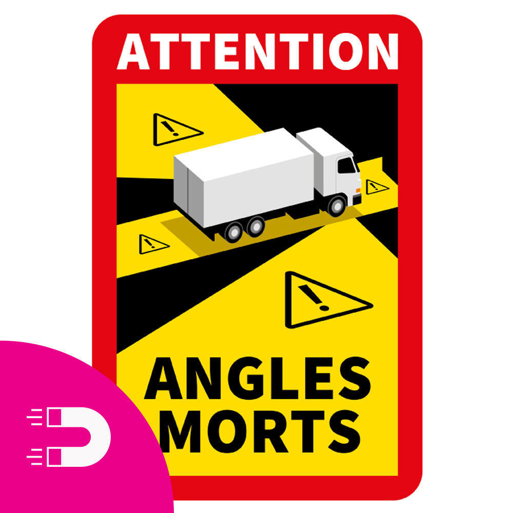 Magnetic sheet Blind spot - Attention Angles Morts Truck (17 x 25 cm) (Price = incl. VAT)