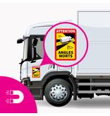 Hoja magnética Punto ciego - Atención ángulos Morts Truck (17 x 25 cm) (Precio = IVA incluido)