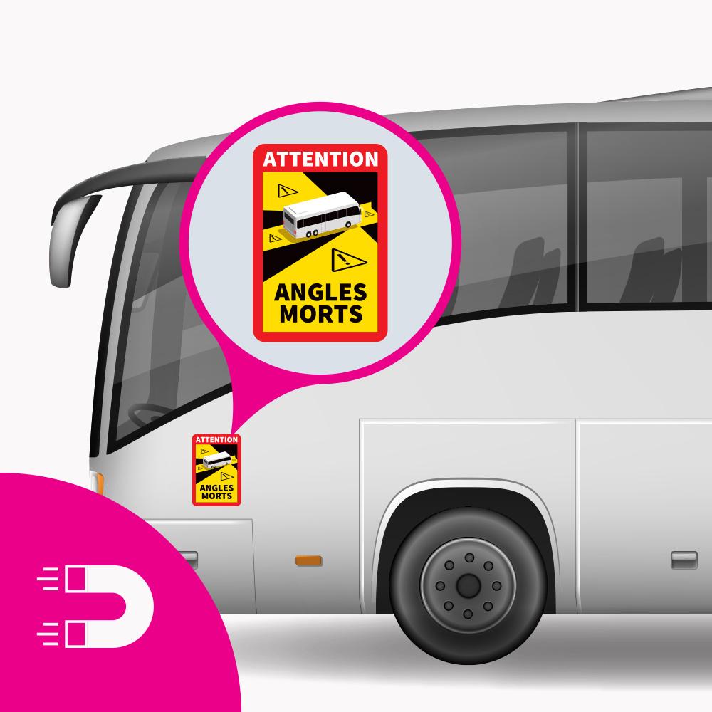 Placa Magnética Ángulo Muerto - Ángulos de Atención Morts Bus (17 x 25 cm) (Precio = IVA incluido)