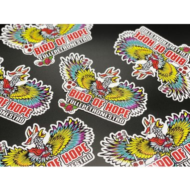 Bird of hope sticker