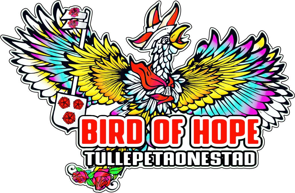 Autocollant oiseau d'espoir