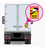 Blind spot - Attention Angles Morts Truck PREMIUM Sticker (17 x 25 cm) (Price = incl. VAT)
