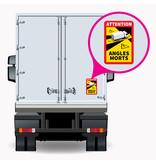 Dode hoek - Attention Angles Morts Vrachtwagen PREMIUM Sticker (17 x 25 cm) (Prijs = incl. BTW)