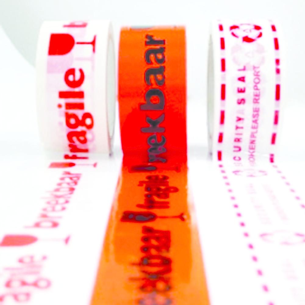 PVC tape bedrukt gekleurd 50 mm