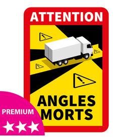 Dode hoek - Vrachtwagen PREMIUM Sticker (17 x 25 cm)