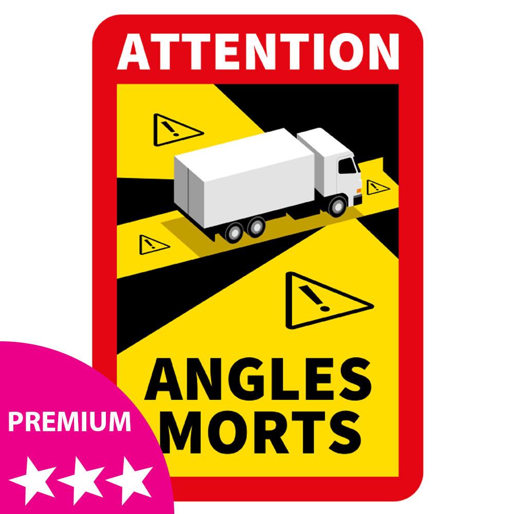 Blind spot - Autocollant Attention Angles Morts Truck PREMIUM (17 x 25 cm) (Prix = TVA incl.)