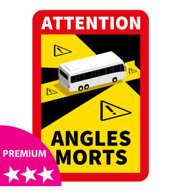 Blind spot - Bus PREMIUM Sticker (17 x 25 cm)