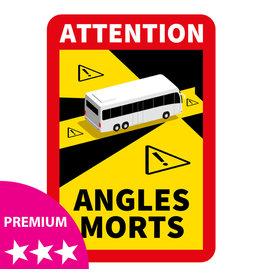 Dode hoek - Bus PREMIUM Sticker (17 x 25 cm)