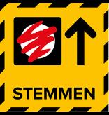 Metromark + Igepa vloerlaminaat Routing der Wahllokalaufkleber (15 x 15 cm)