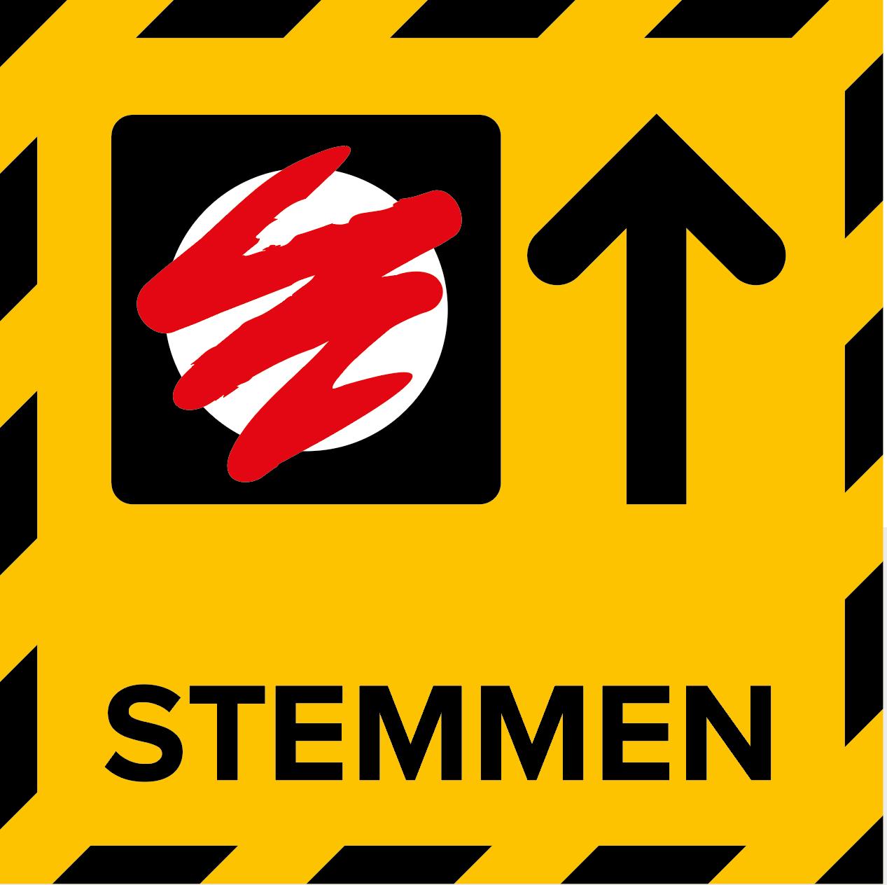 Metromark + Igepa vloerlaminaat Stembureau sticker routing (15 x 15 CM)