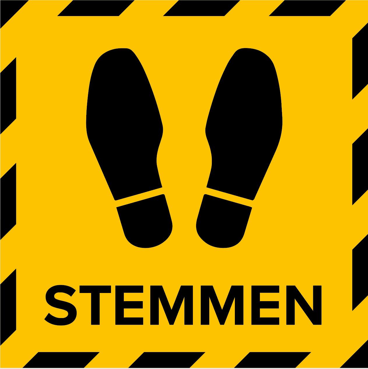 Metromark + Igepa vloerlaminaat Stembureau vloersticker stemplaats (15 x 15 CM)