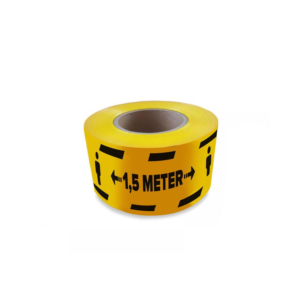 Mantenga la cinta de barrera de distancia de 1,5 mtr covid19 corona