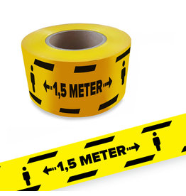 Gardez le ruban de barrière de distance de 1,5 mtr Covid19