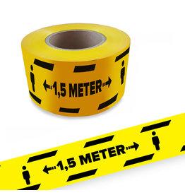 Houd 1,5 mtr afstand afzetlint 250mtr rol