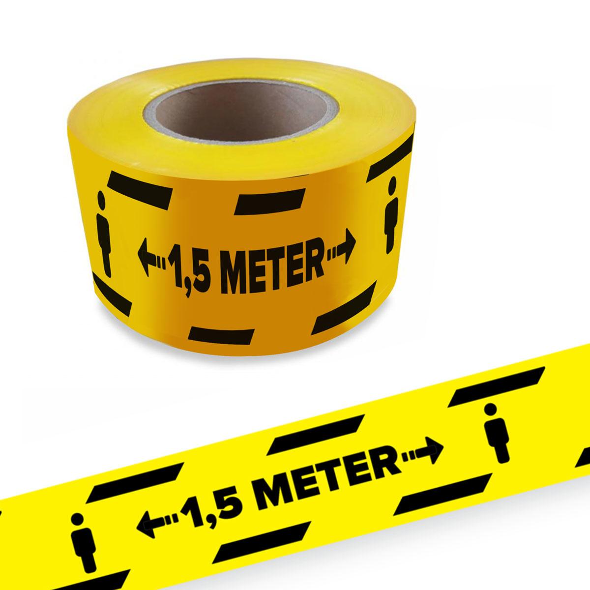 Halten Sie 1,5 m Abstand Barriereband covid19 Corona