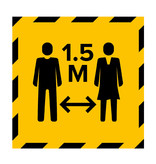 Metromark + Igepa vloerlaminaat Bodenaufkleber des Wahllokals 1,5 Meter (15 x 15 cm)