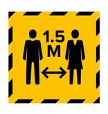 Metromark + Igepa vloerlaminaat Stembureau vloersticker 1.5 meter (15 x 15 CM)