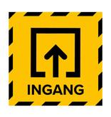 Metromark + Igepa vloerlaminaat Polling station floor sticker entrance (15 x 15 CM)