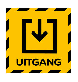 Metromark + Igepa vloerlaminaat Ausgang des Wahllokals (15 x 15 cm)