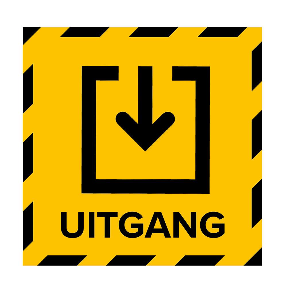 Metromark + Igepa vloerlaminaat Autocollant de sol du bureau de vote sortie (15 x 15 cm)
