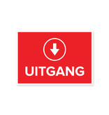 Easydot Wit Stickers A4: 2x Ingang, 2x Uitgang