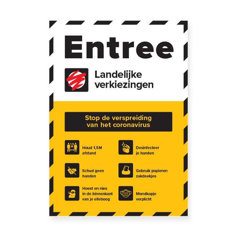 A1  poster ( 84cm x 58cm )stemmen regels Entree