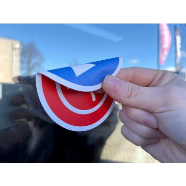 Dubbelzijdige stickers