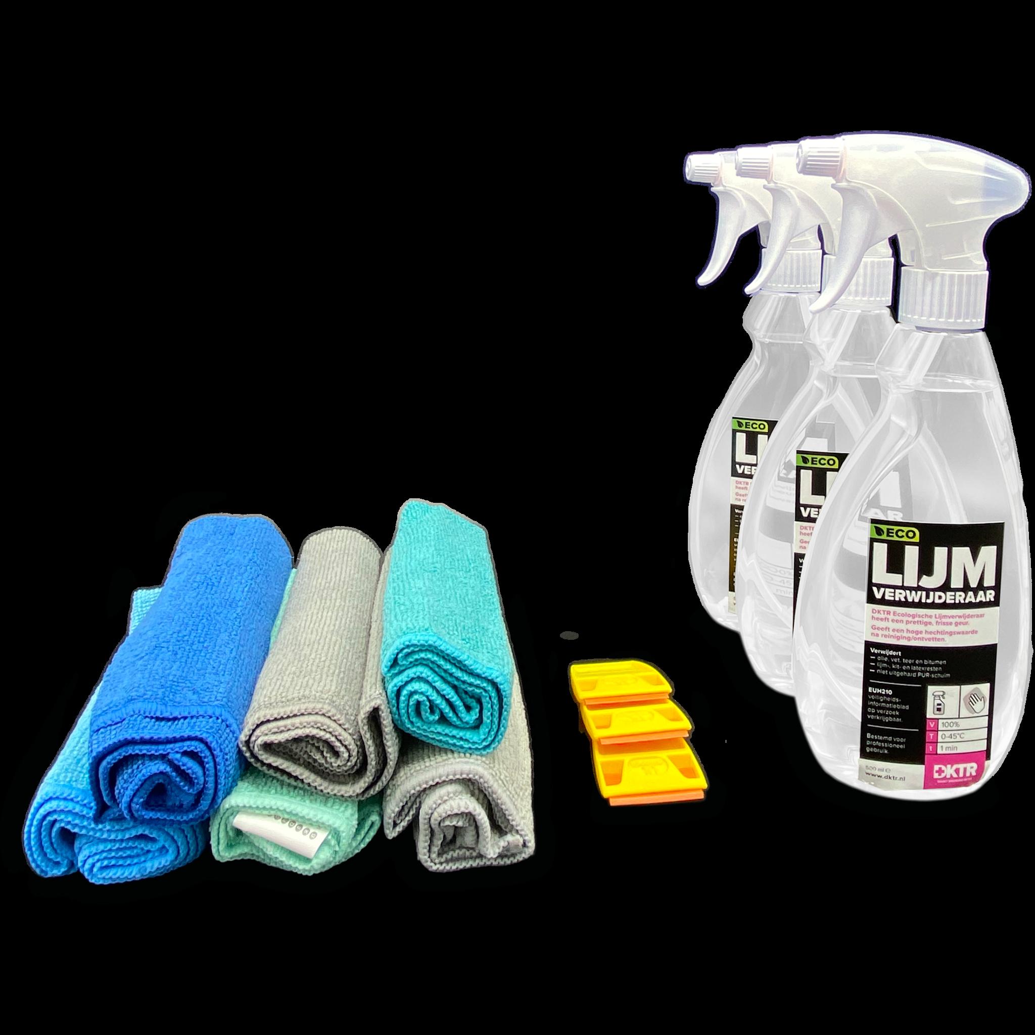 Paquete de des-adhesivo (mediano): quita fácilmente los adhesivos