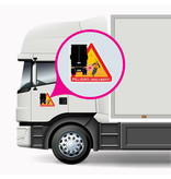 Dode hoek - Peligro ángulos muertos Vrachtwagen Spanje sticker