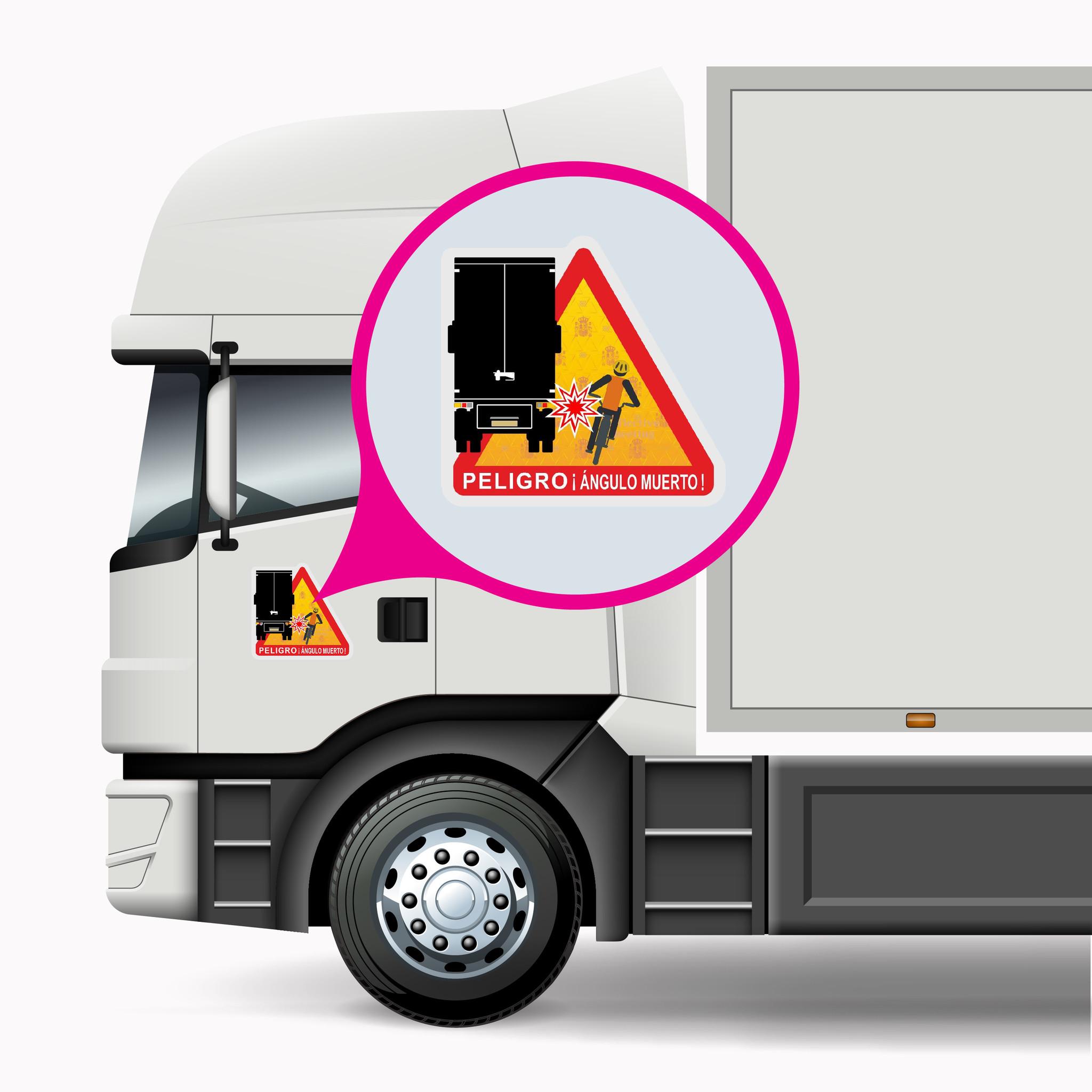 Blind Spot - Peligro ángulos muertos Truck Spain pegatina